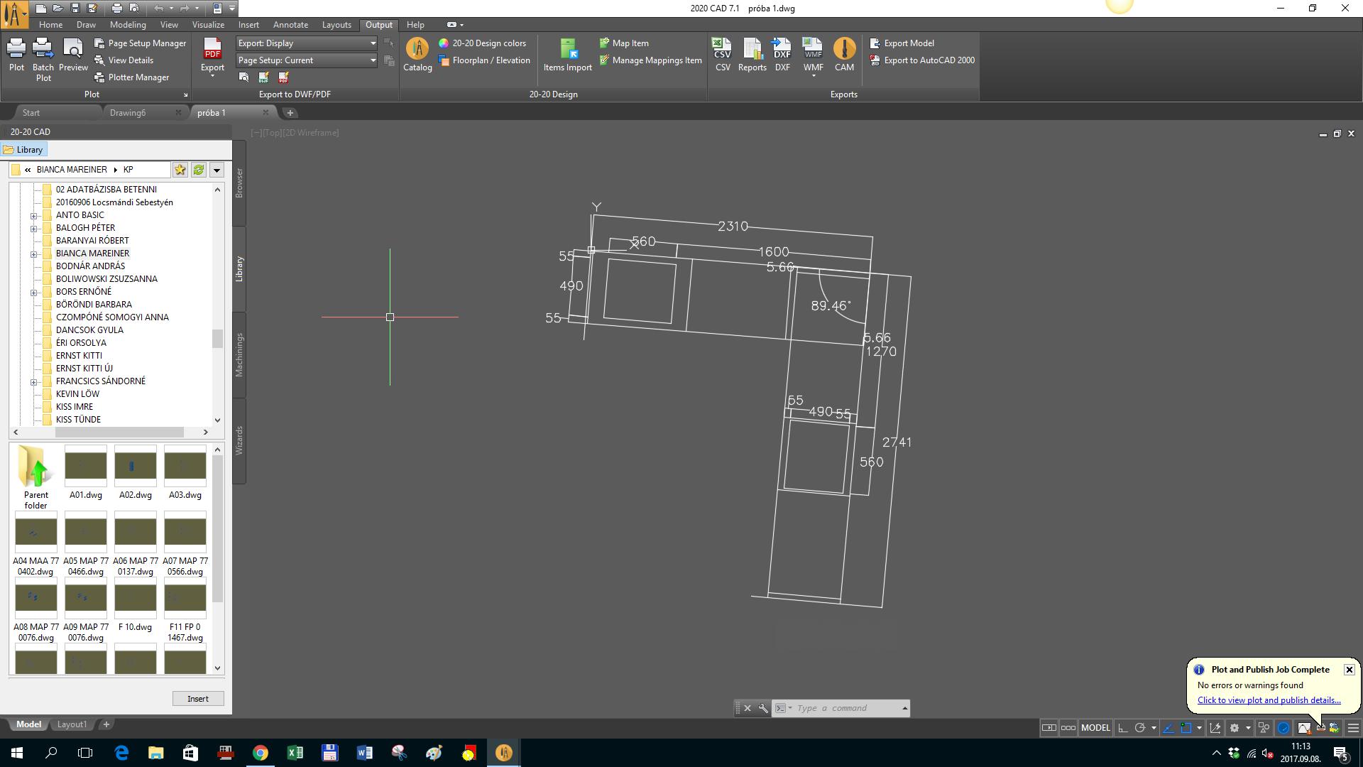 Leica 3D Disto ipmortálás CAD programba